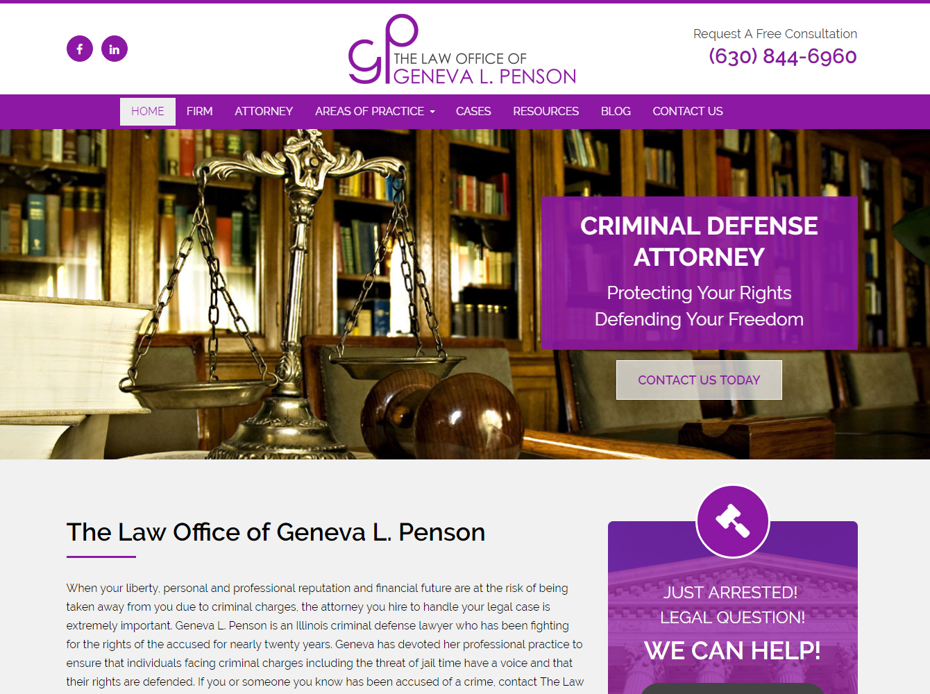 Portfolio Of Best Attorney Websites By FORWARD Marketing ...